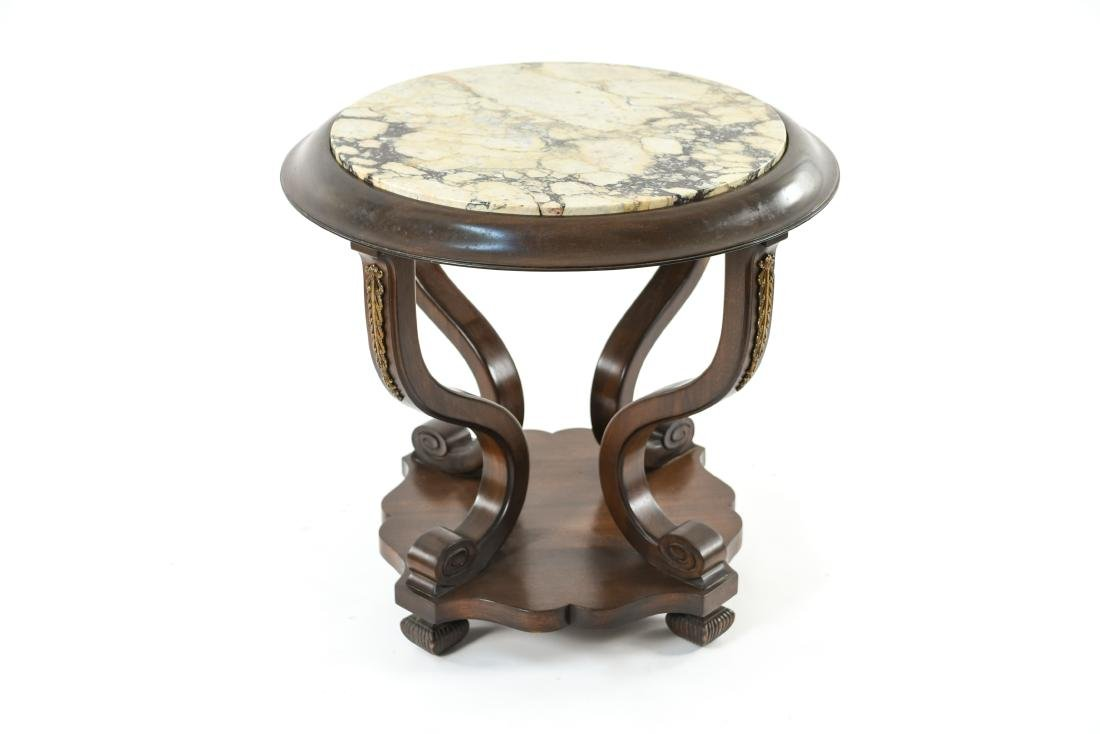 MARBLE TOP SIDE TABLE - 3