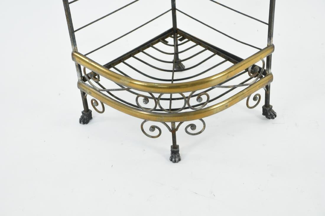 IRON AND BRASS BAKERS RACK CORNER ETAGERE - 2