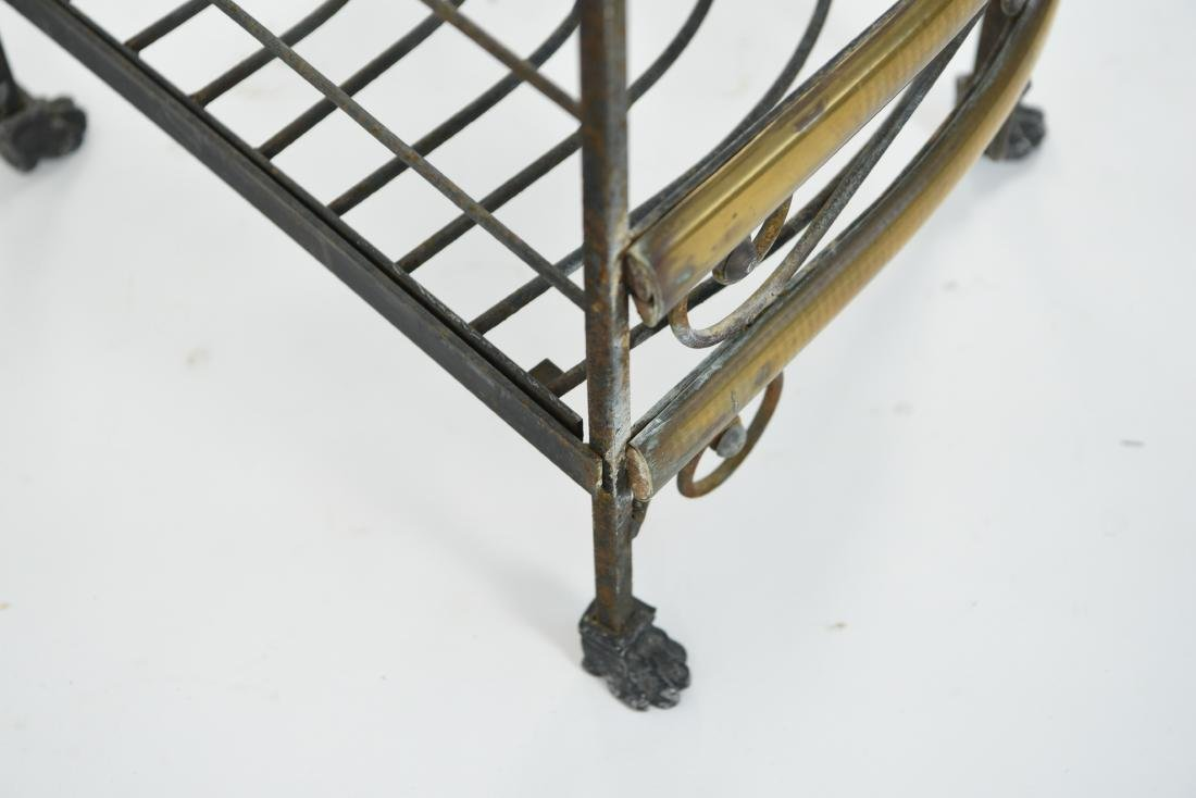 IRON AND BRASS BAKERS RACK CORNER ETAGERE - 9