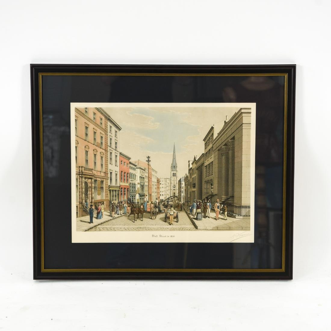 """""""WALL STREET AS IT LOOKED IN 1856"""" PRINT"""