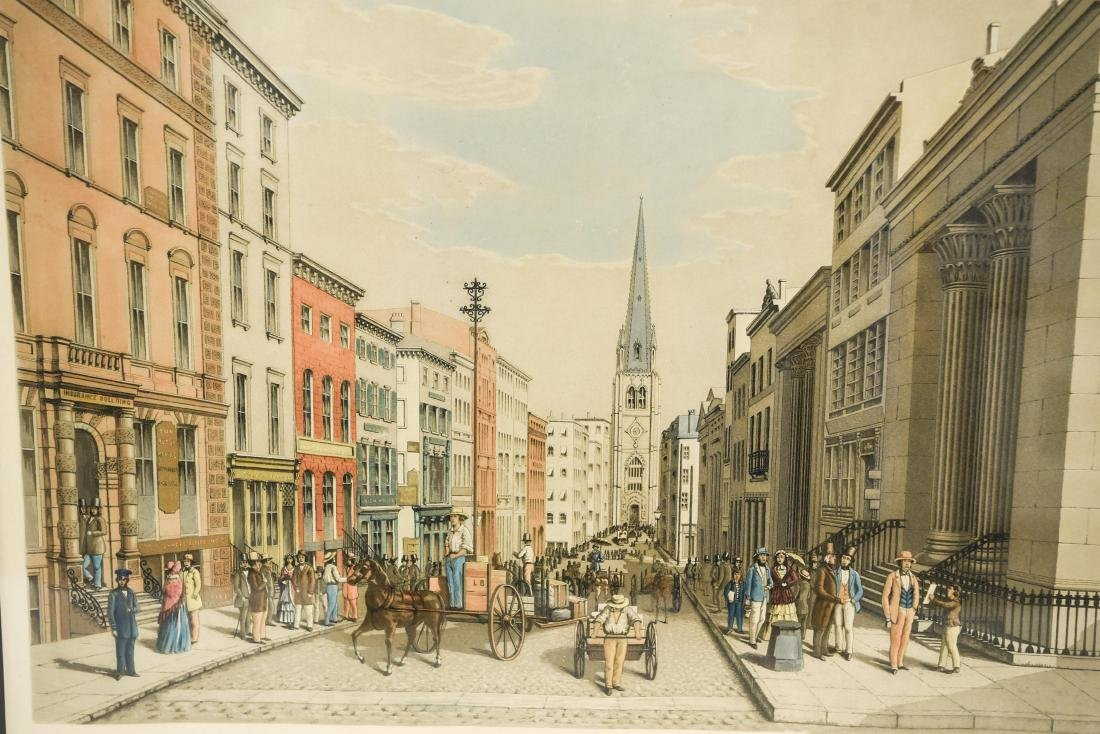 """""""WALL STREET AS IT LOOKED IN 1856"""" PRINT - 2"""