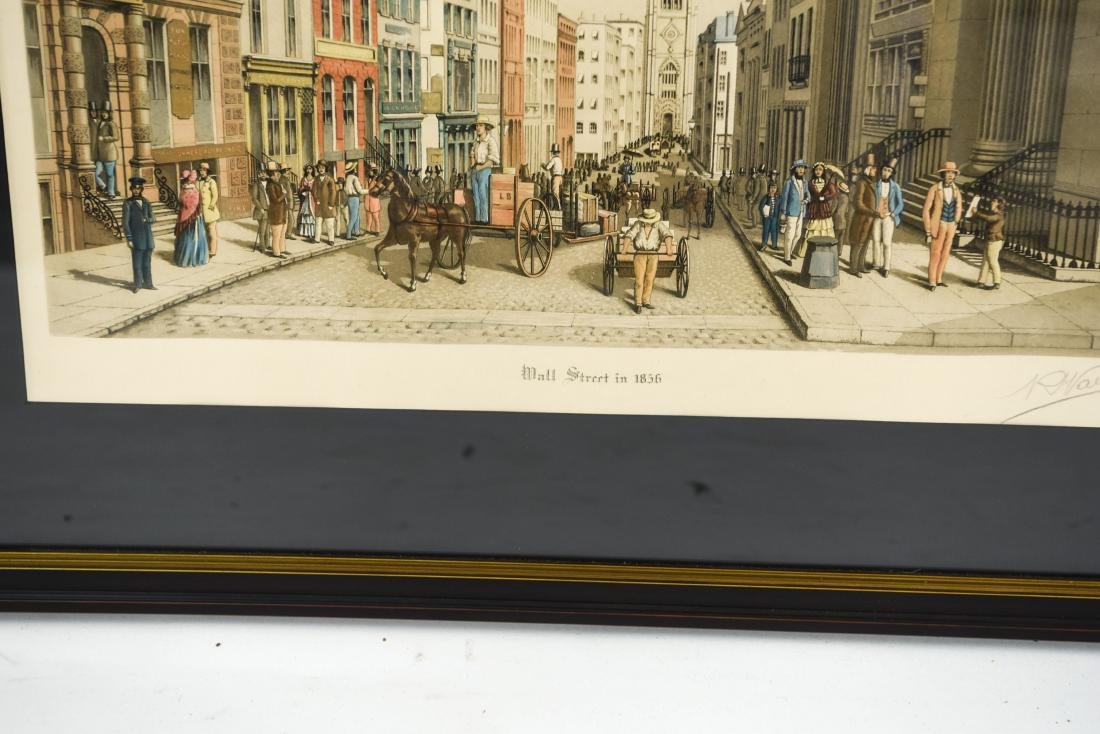 """""""WALL STREET AS IT LOOKED IN 1856"""" PRINT - 3"""