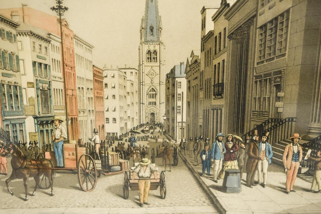 """""""WALL STREET AS IT LOOKED IN 1856"""" PRINT - 5"""