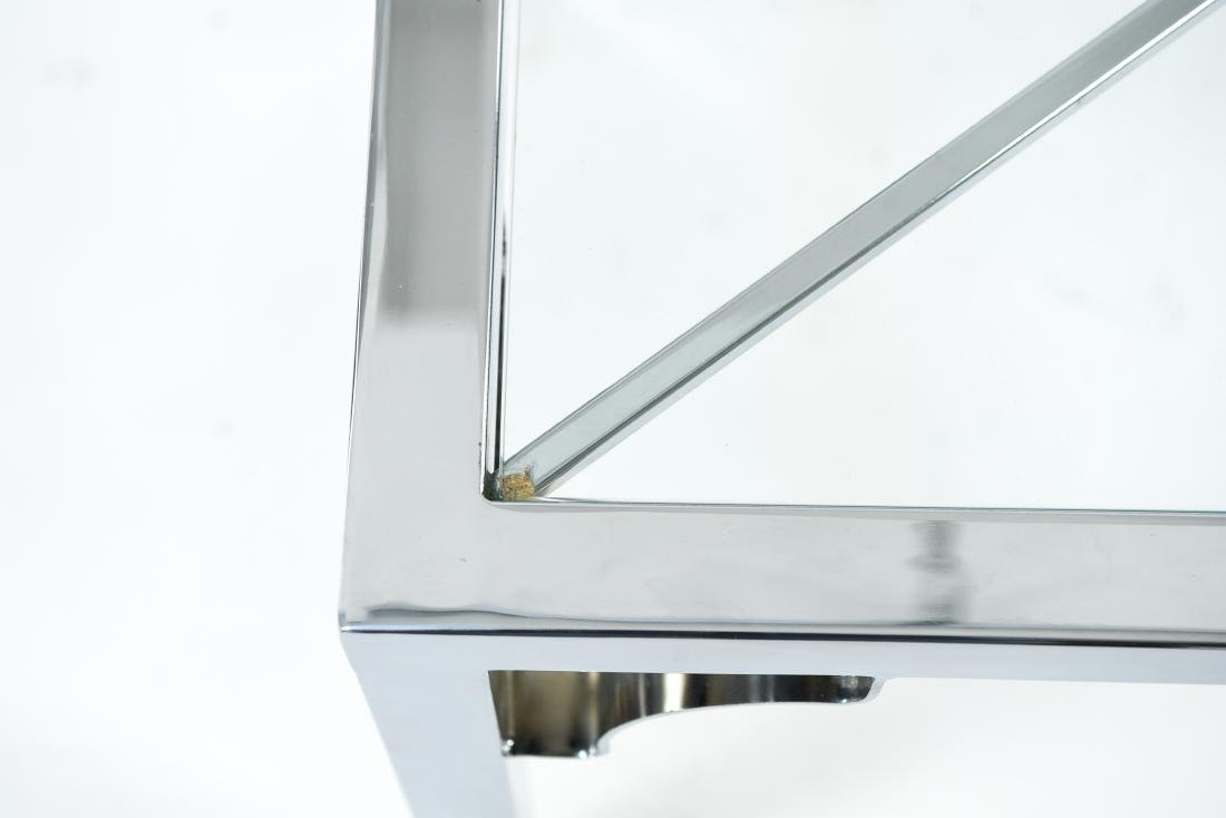 CHROME & GLASS CONSOLE & SIDE TABLE - 3