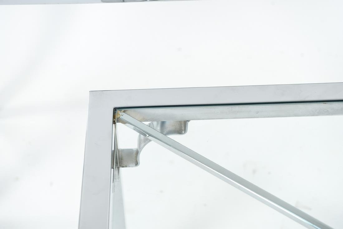 CHROME & GLASS CONSOLE & SIDE TABLE - 5
