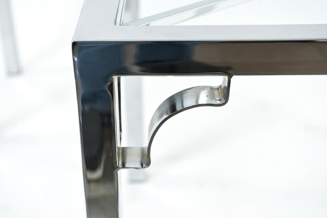 CHROME & GLASS CONSOLE & SIDE TABLE - 7