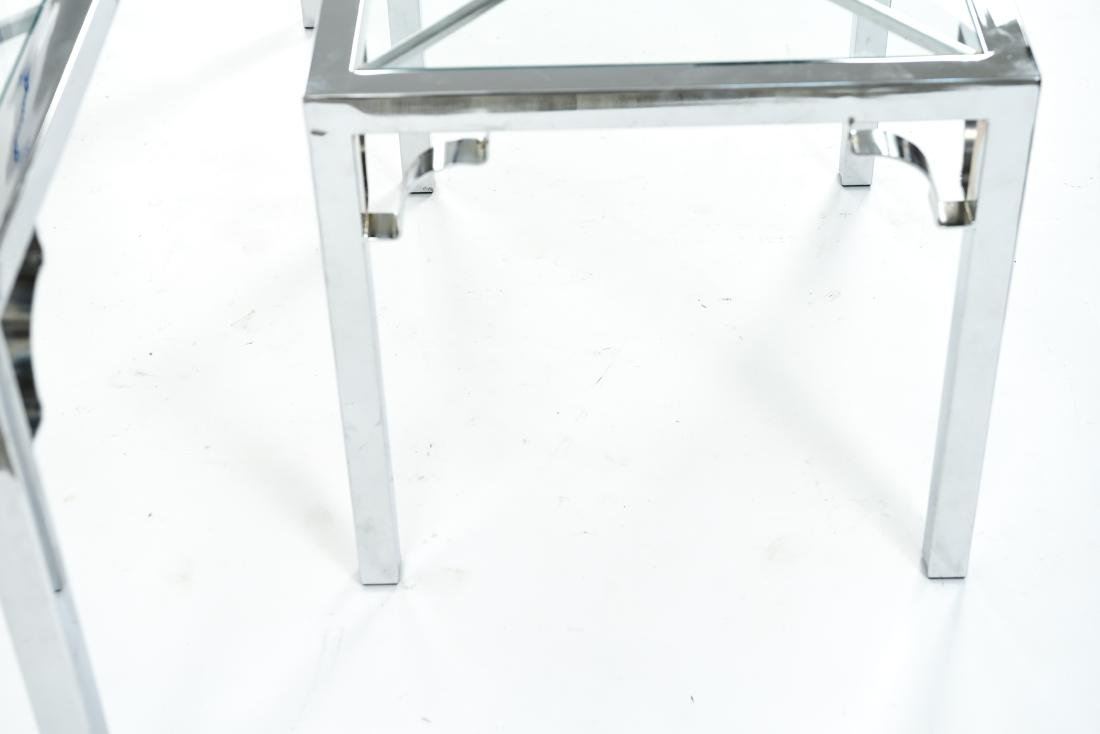CHROME & GLASS CONSOLE & SIDE TABLE - 9