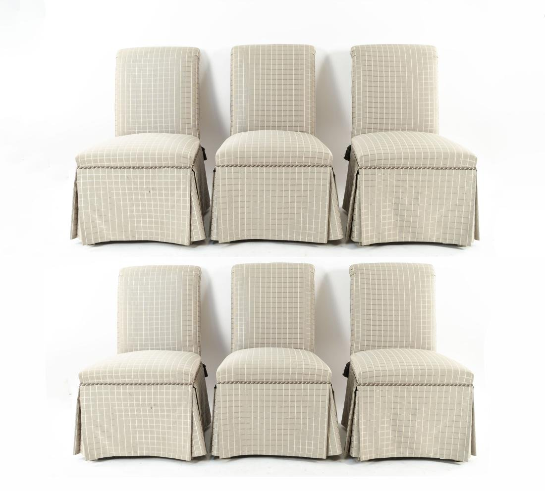 (6) UPHOLSTERED DINING CHAIRS