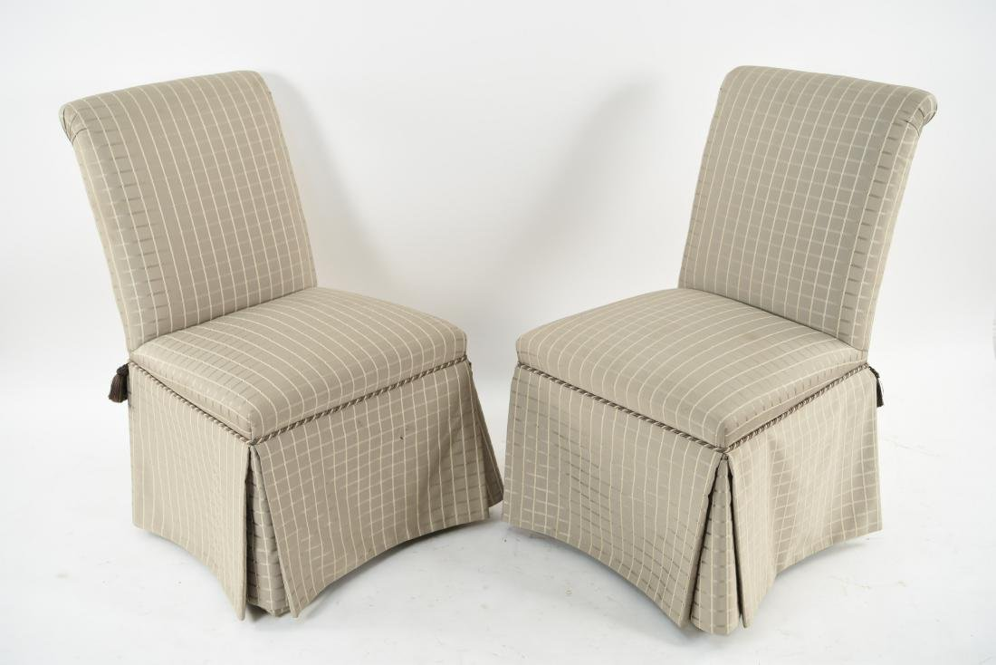 (6) UPHOLSTERED DINING CHAIRS - 8