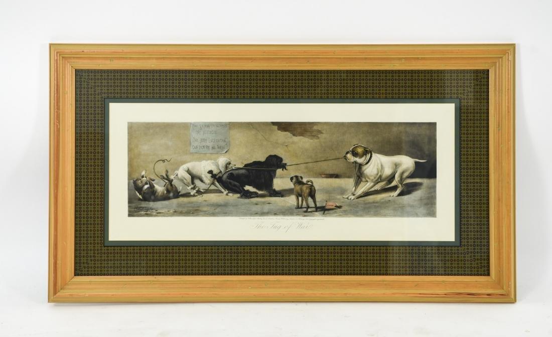 """1899 """"THE TUG OF WAR"""" DOG PRINT"""