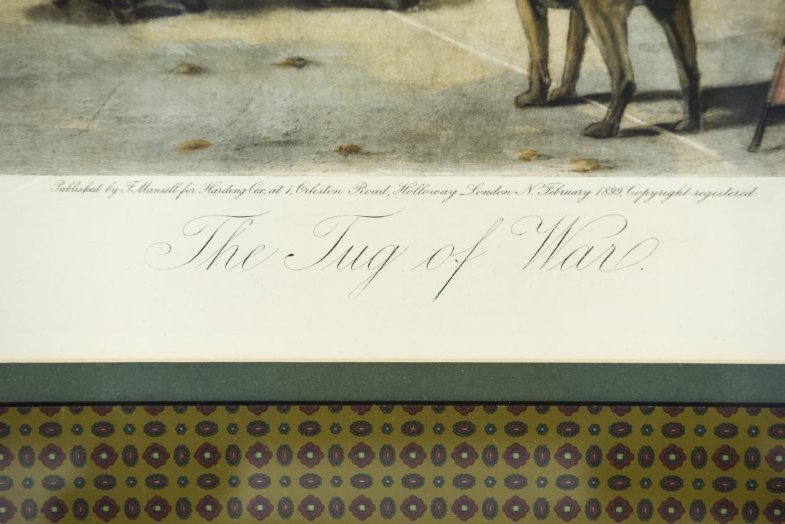 """1899 """"THE TUG OF WAR"""" DOG PRINT - 2"""