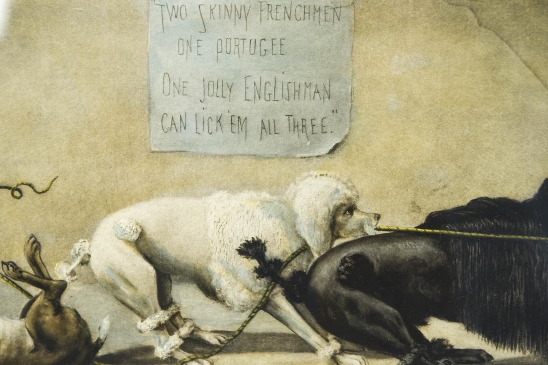 """1899 """"THE TUG OF WAR"""" DOG PRINT - 5"""