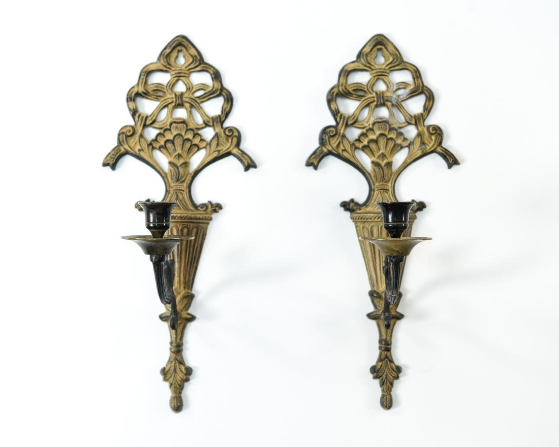 PAIR OF CANDLE SCONCES