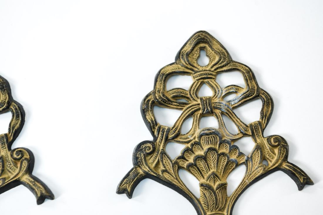 PAIR OF CANDLE SCONCES - 3