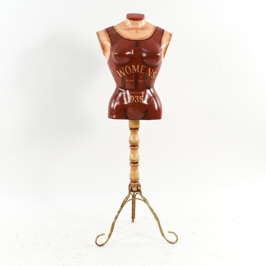MANNEQUIN BUST DRESS FORM STAND