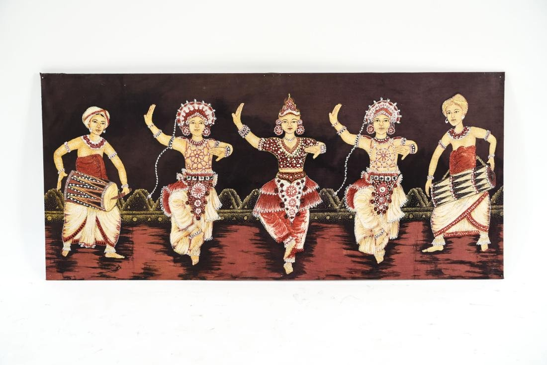 DANCER ARTWORK ON FABRIC