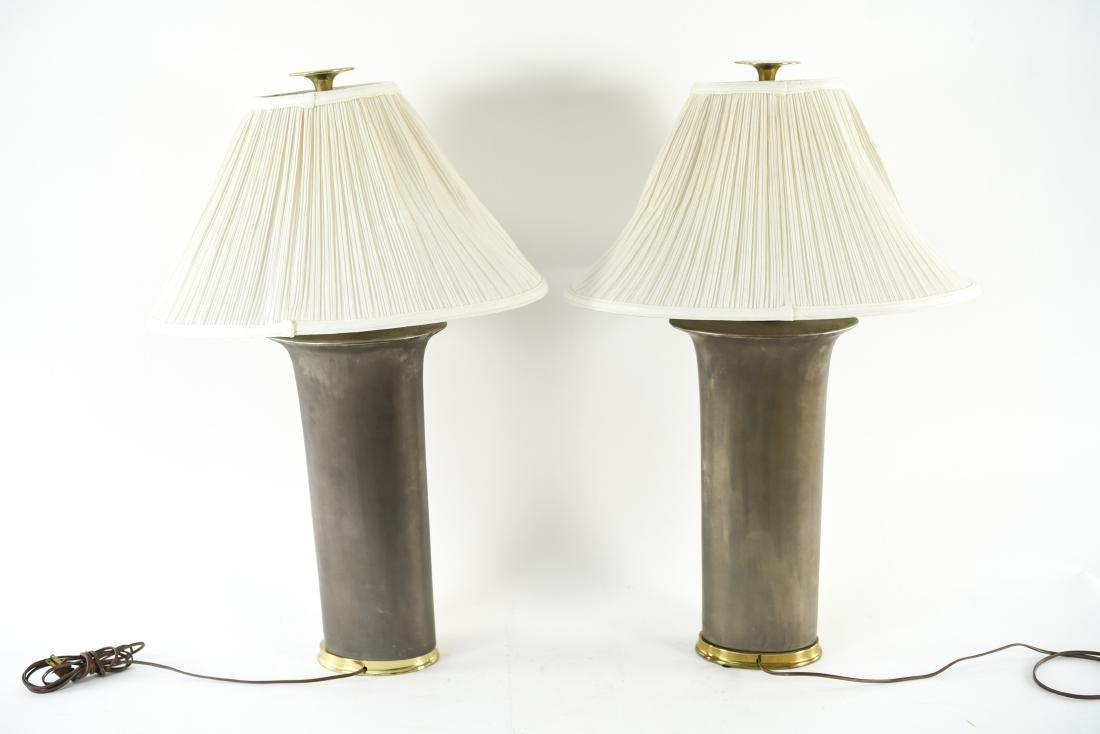 PAIR OF CERAMIC LAMPS - 10