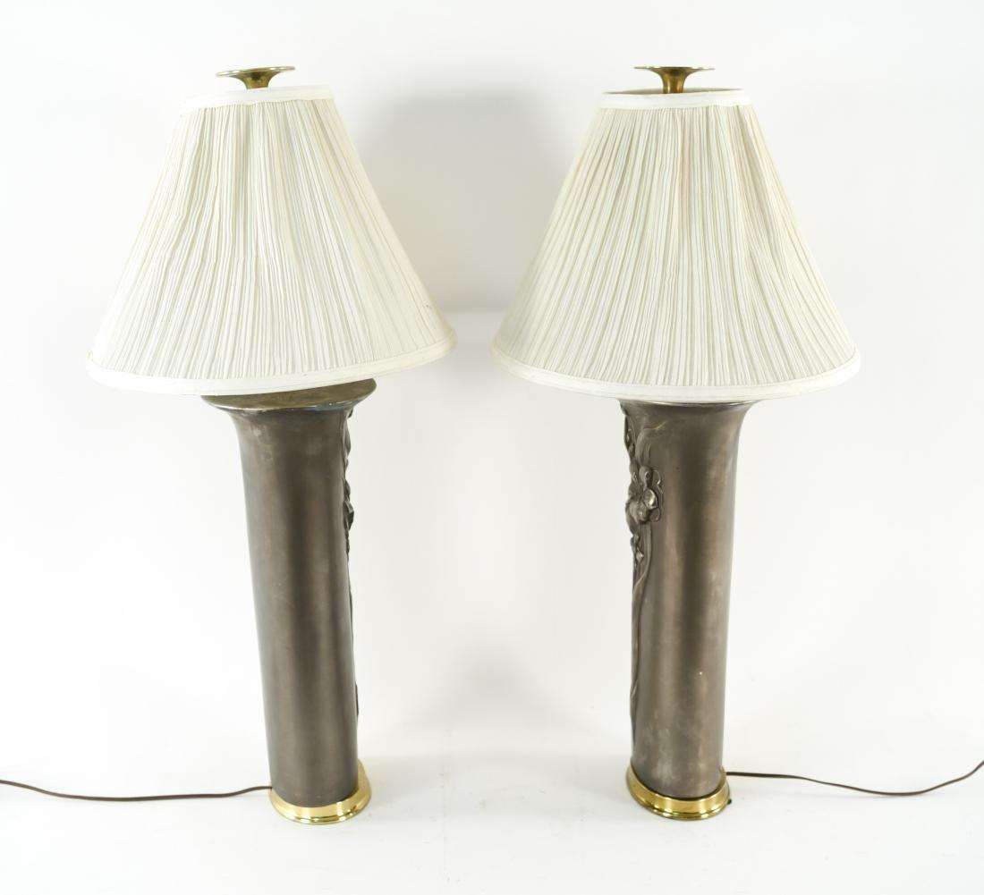PAIR OF CERAMIC LAMPS - 6