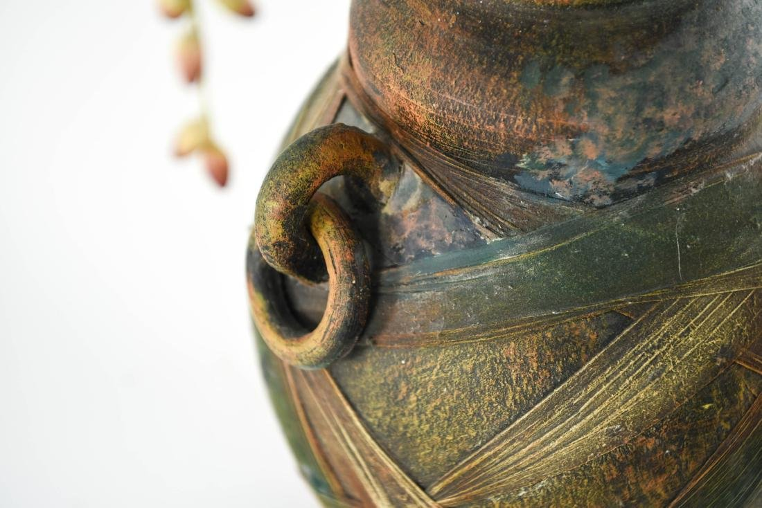 CERAMIC VASE WITH FAUX FLOWERS - 4