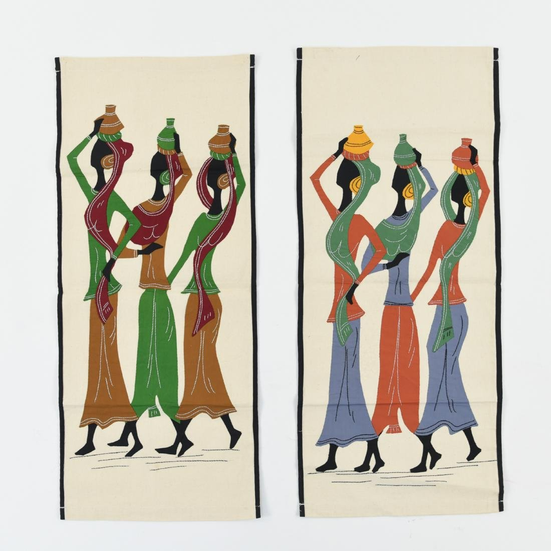 (2) AFRICAN STYLE TEXTILES