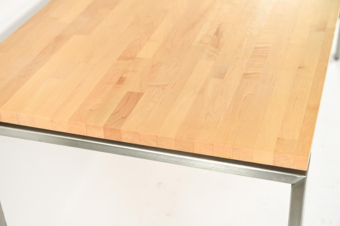 METAL & WOOD DINING TABLE - 6