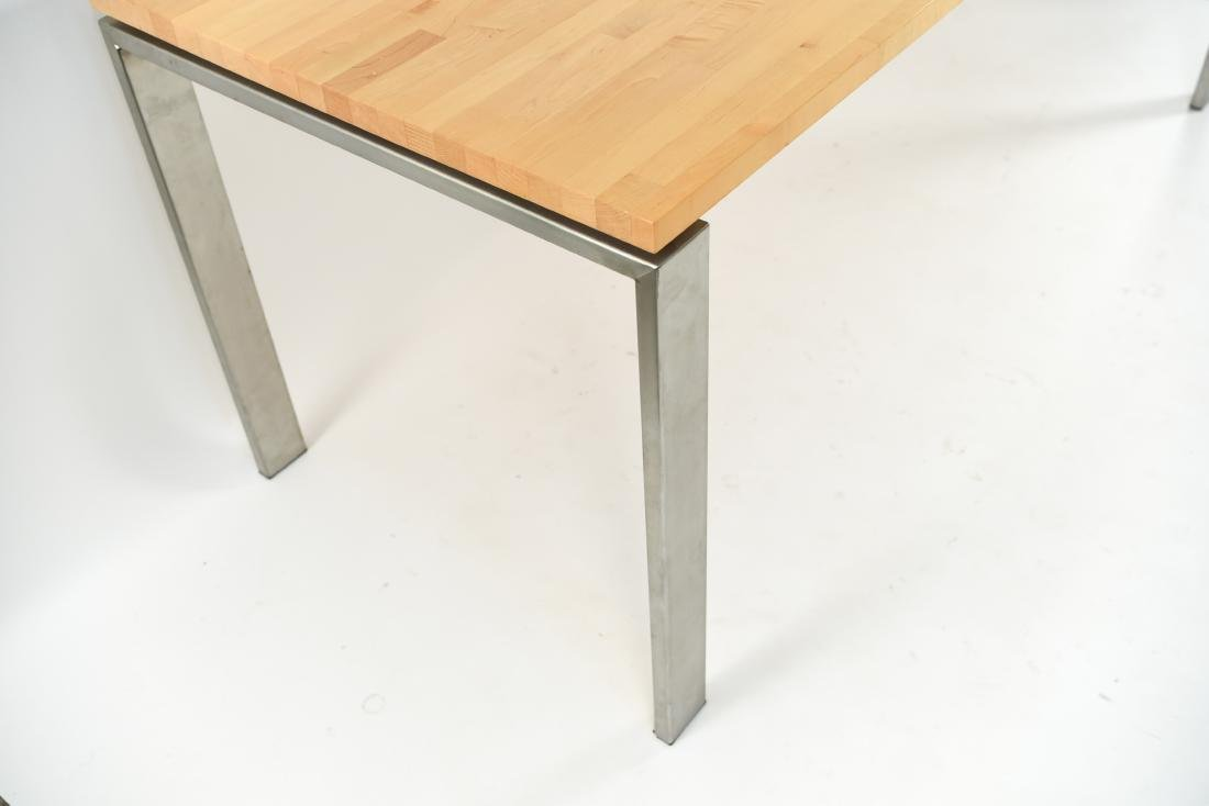 METAL & WOOD DINING TABLE - 7