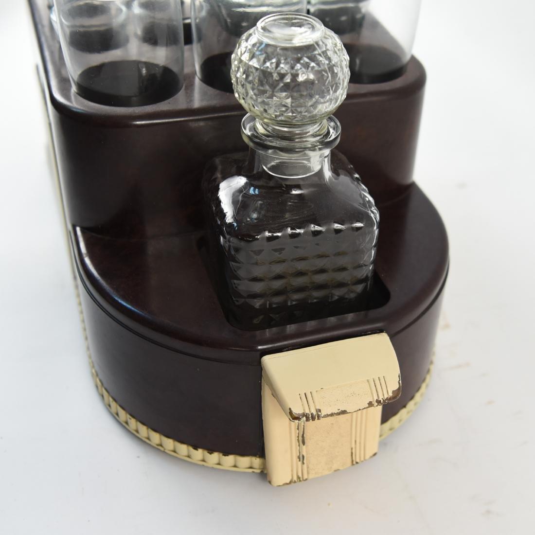 VINTAGE ART DECO LIQUOR DECANTER DRINK CADDY - 6