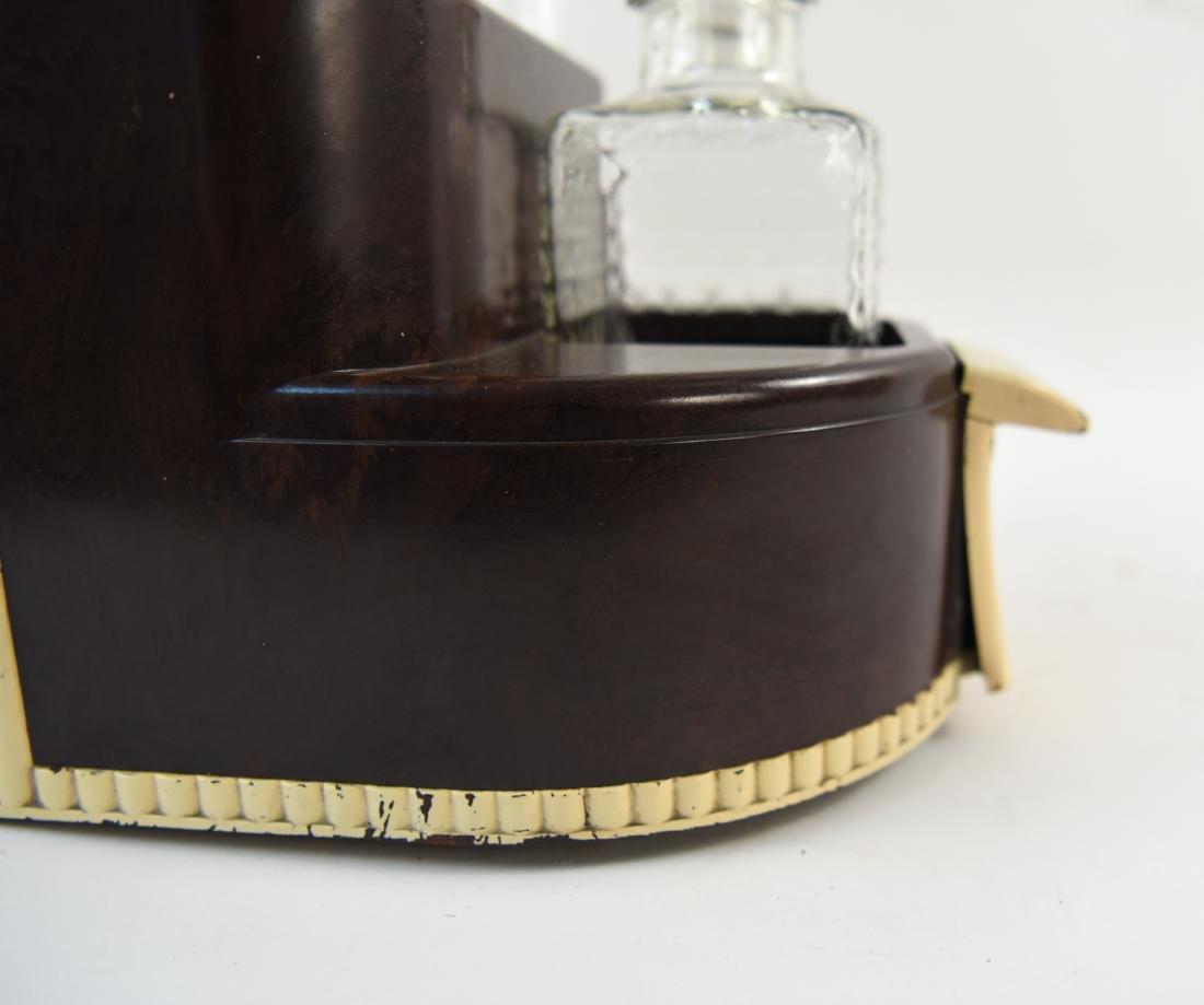 VINTAGE ART DECO LIQUOR DECANTER DRINK CADDY - 8