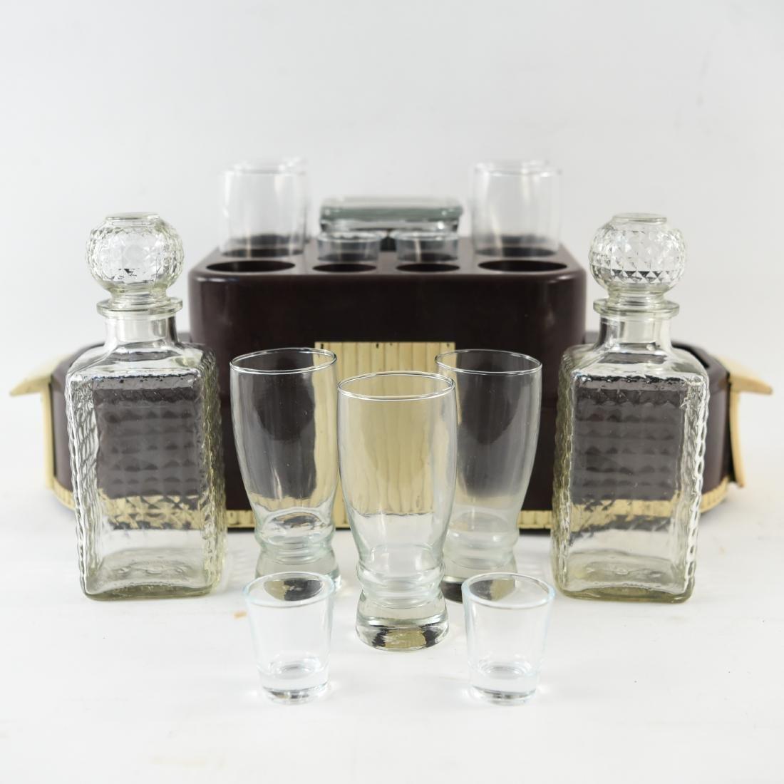 VINTAGE ART DECO LIQUOR DECANTER DRINK CADDY - 9