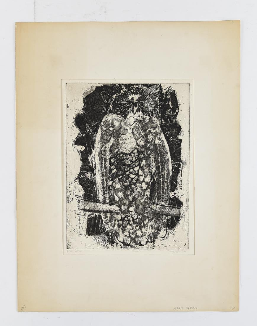 MARY OPPEN ETCHING