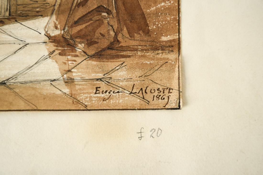EUGENE LACOSTE PENCIL, BLACK INK, & SEPIA WASH - 3