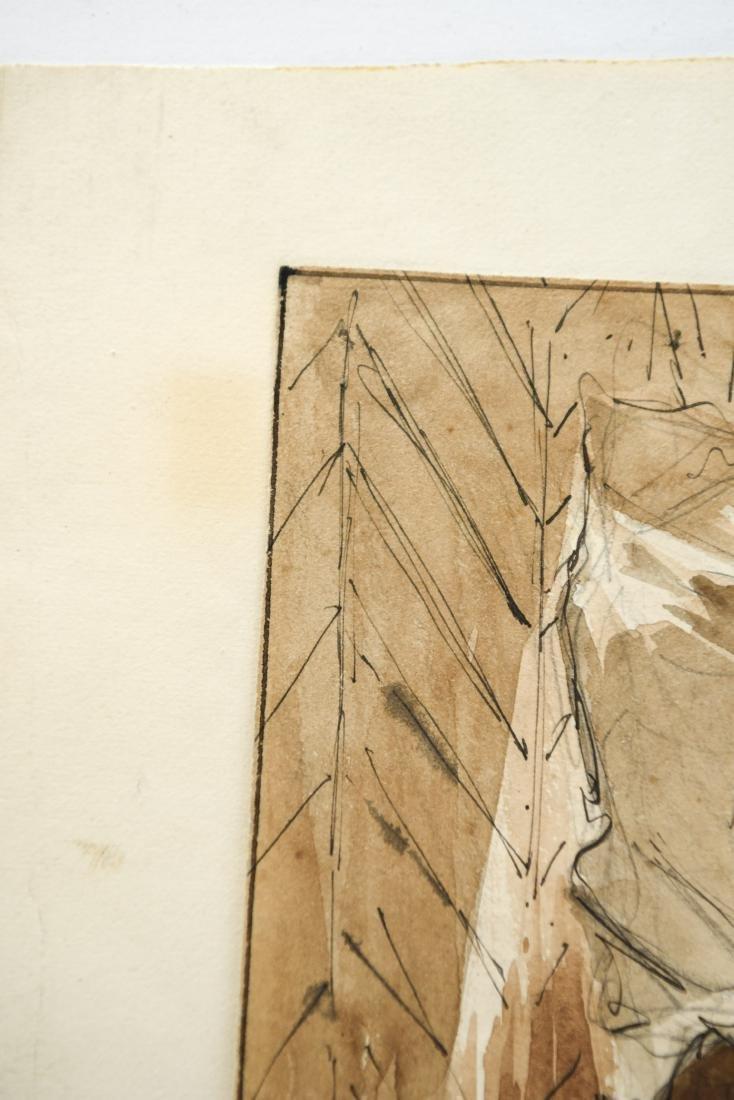 EUGENE LACOSTE PENCIL, BLACK INK, & SEPIA WASH - 7