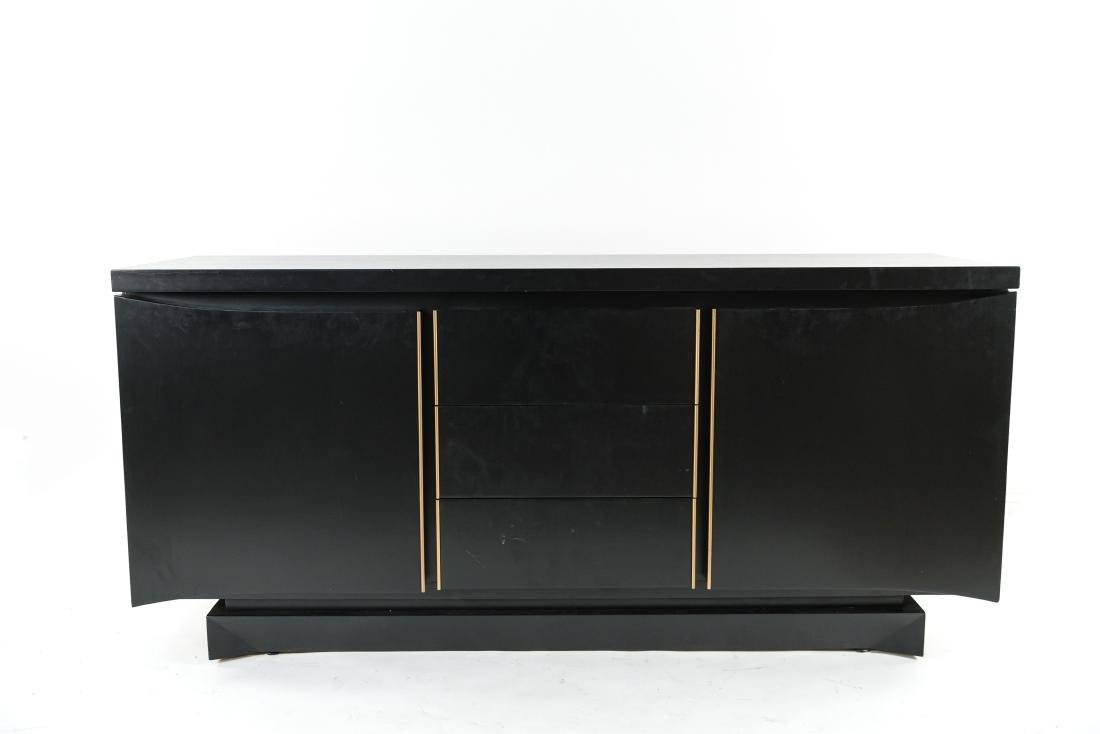 MID-CENTURY BLACK PAINTED SIDEBOARD