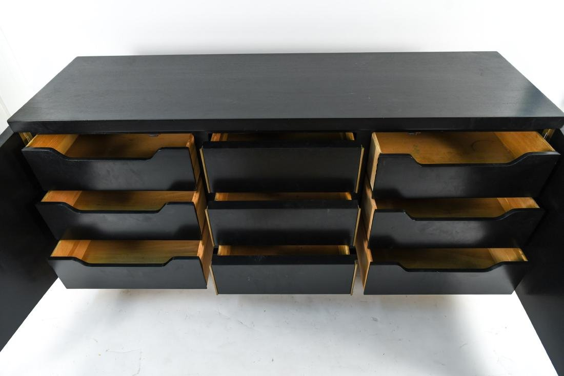MID-CENTURY BLACK PAINTED SIDEBOARD - 2