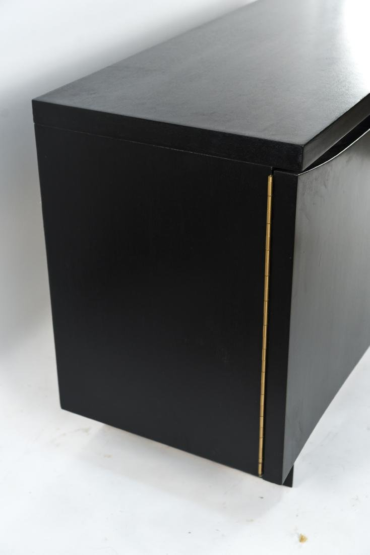 MID-CENTURY BLACK PAINTED SIDEBOARD - 4