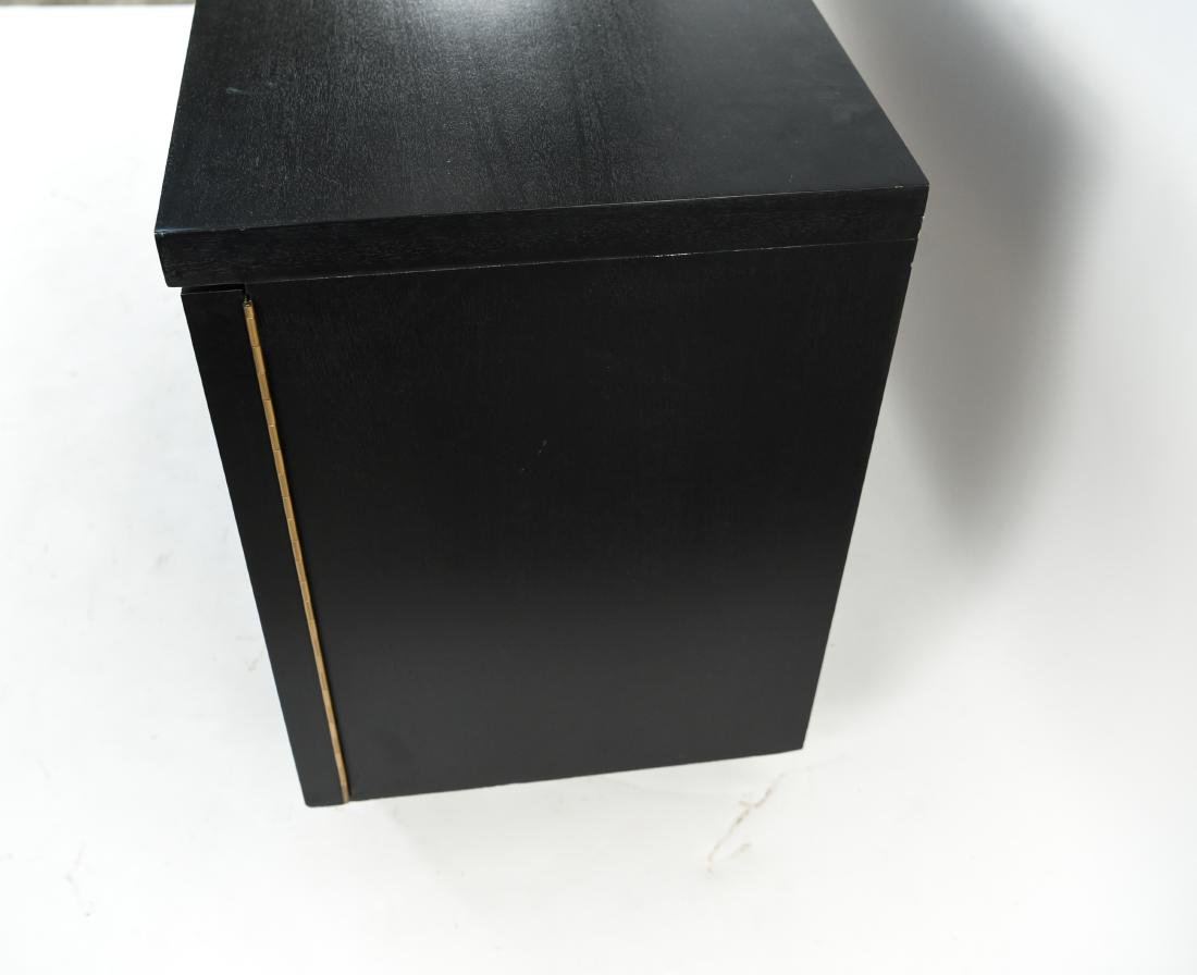MID-CENTURY BLACK PAINTED SIDEBOARD - 5