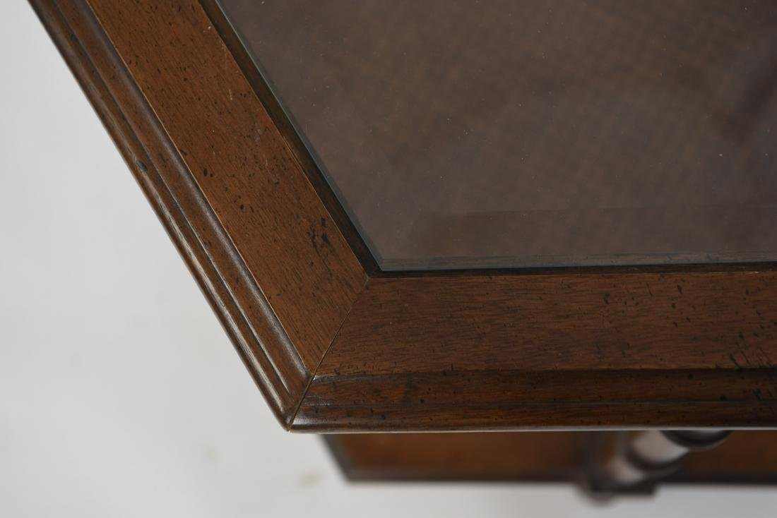 PAIR OF MODERN FAUX BAMBOO STYLE END TABLES - 4