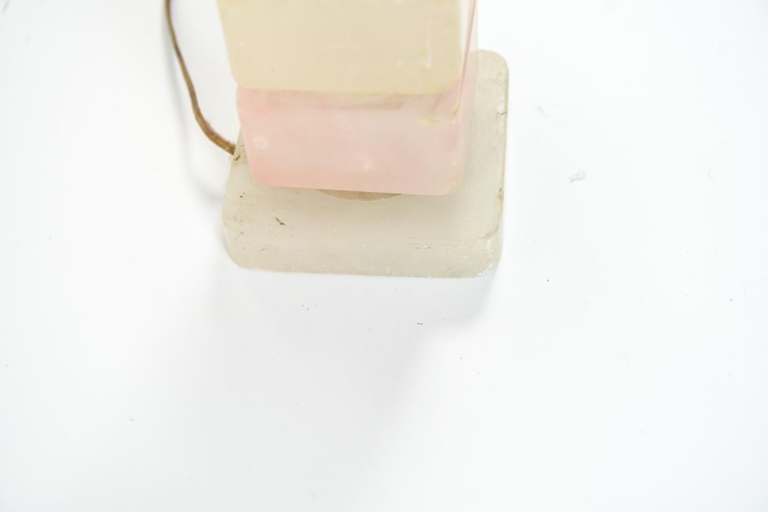 MID-CENTURY STACKED ACRYLIC RESIN LAMP - 5