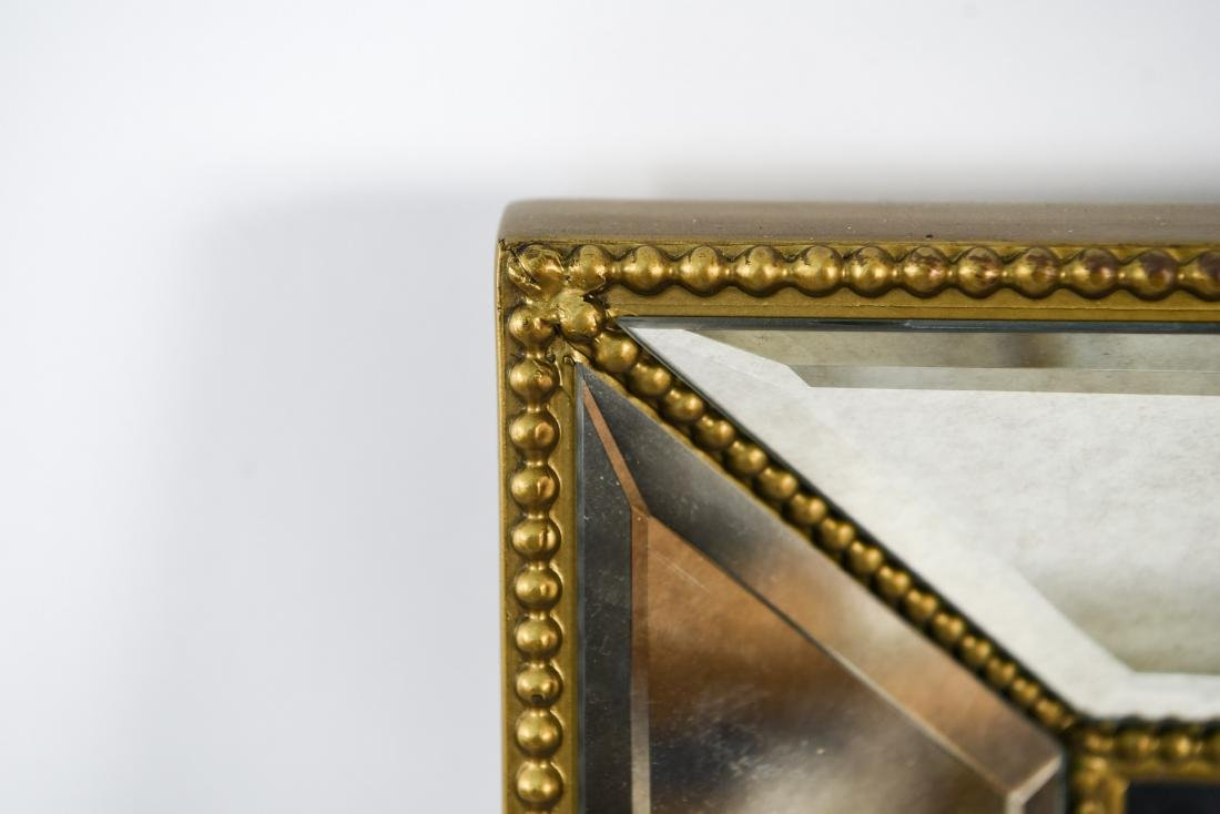 CONTEMPORARY BEVELED GLASS & FAUX GILT MIRROR - 10
