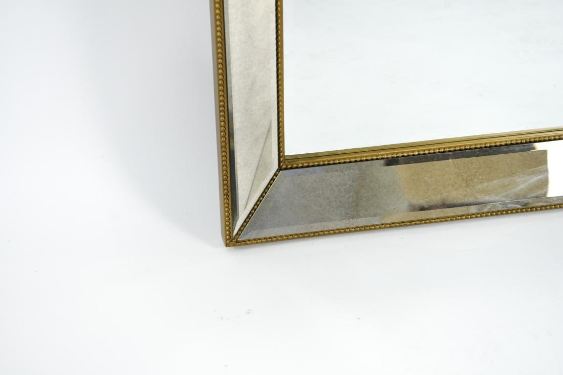 CONTEMPORARY BEVELED GLASS & FAUX GILT MIRROR - 2