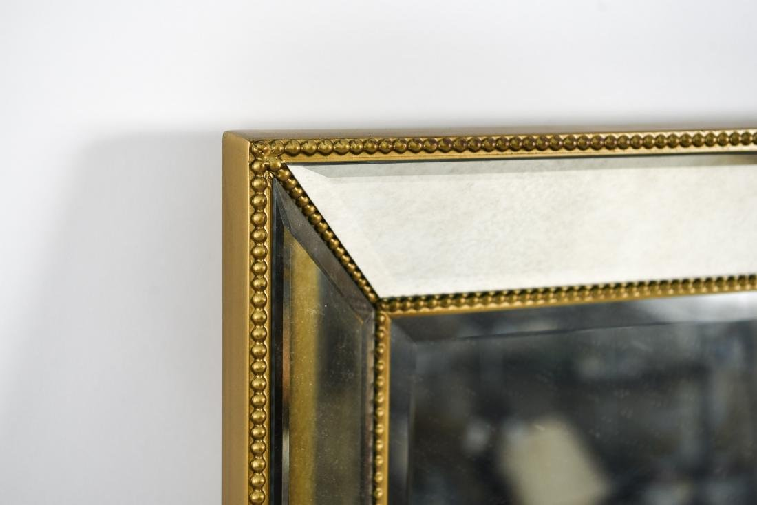 CONTEMPORARY BEVELED GLASS & FAUX GILT MIRROR - 3