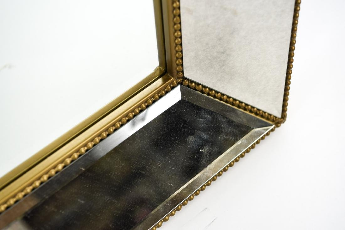 CONTEMPORARY BEVELED GLASS & FAUX GILT MIRROR - 7