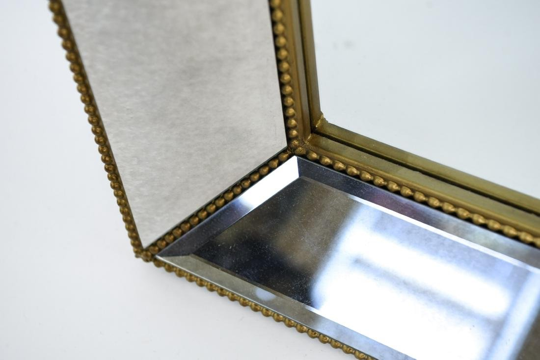 CONTEMPORARY BEVELED GLASS & FAUX GILT MIRROR - 8