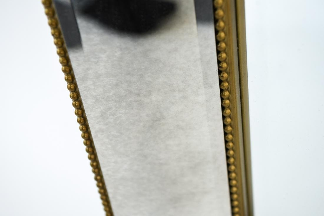 CONTEMPORARY BEVELED GLASS & FAUX GILT MIRROR - 9