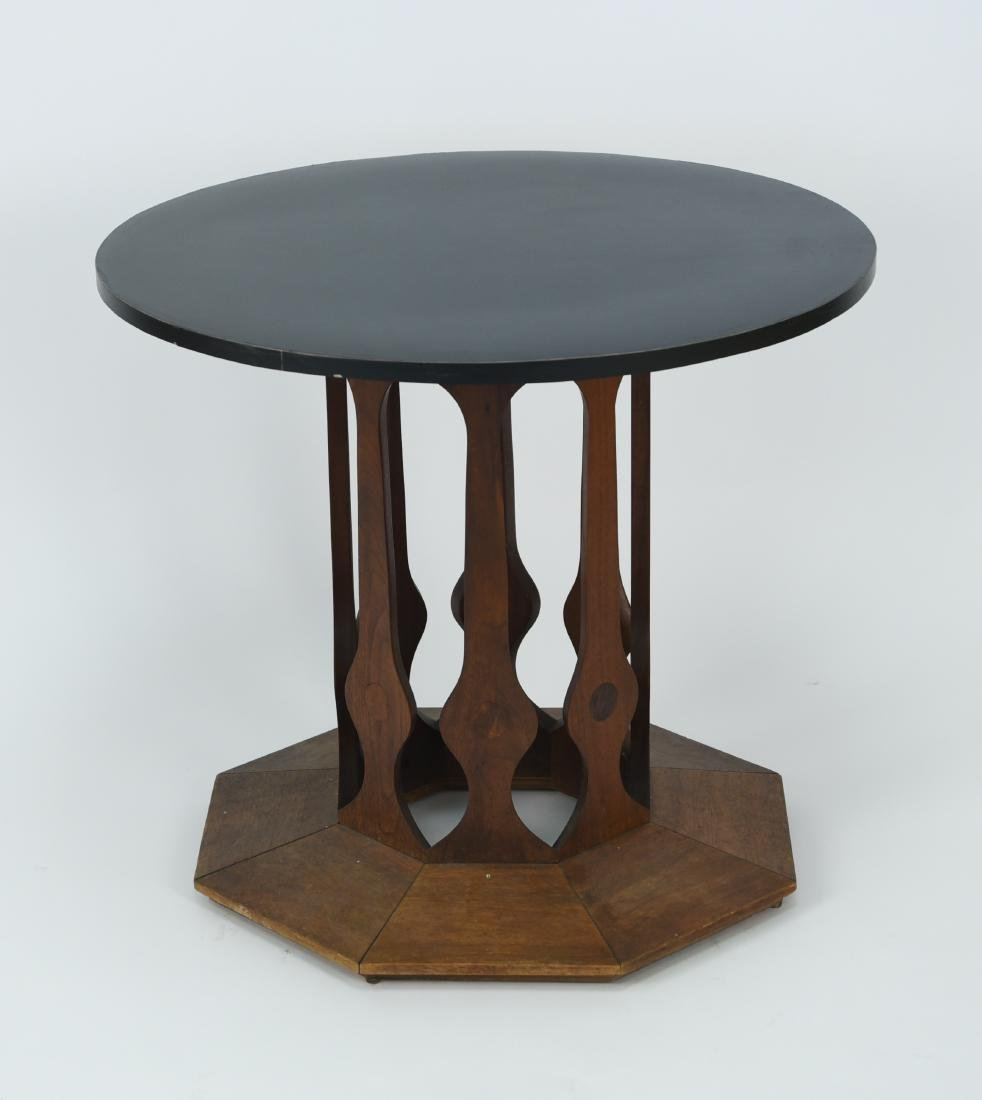 HARVEY PROBBER STYLE BLACK LAMINATE END TABLE
