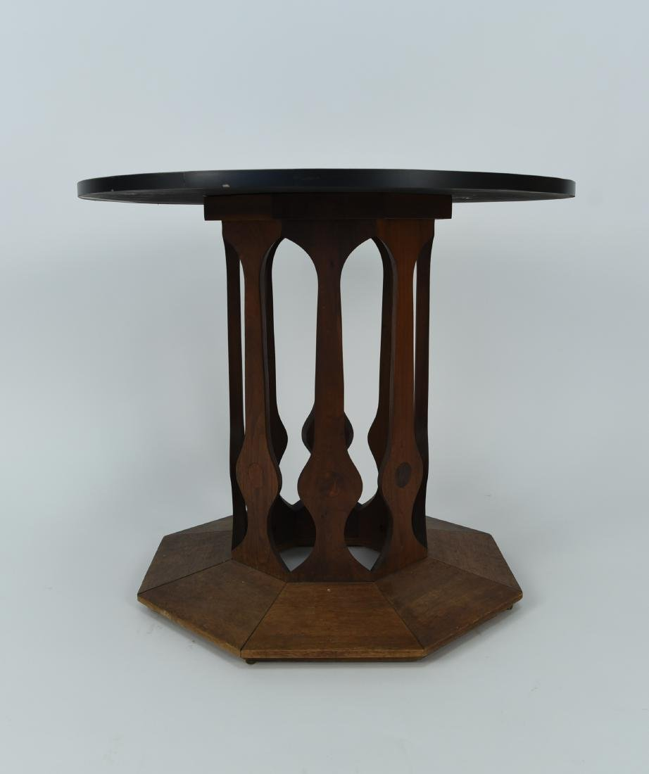 HARVEY PROBBER STYLE BLACK LAMINATE END TABLE - 6