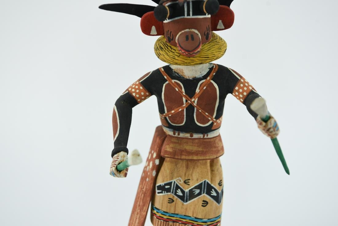 CONTEMPORARY NATIVE AMERICAN KACHINA DOLL - 3