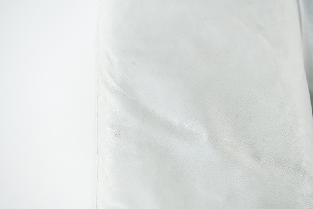 WHITE LEATHER CLUB CHAIR - 8