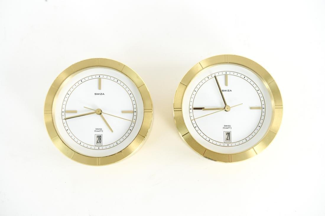 (2) SWIZA DESK CLOCKS