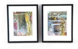 (2) BB MCINTYRE ABSTRACT COLLAGES